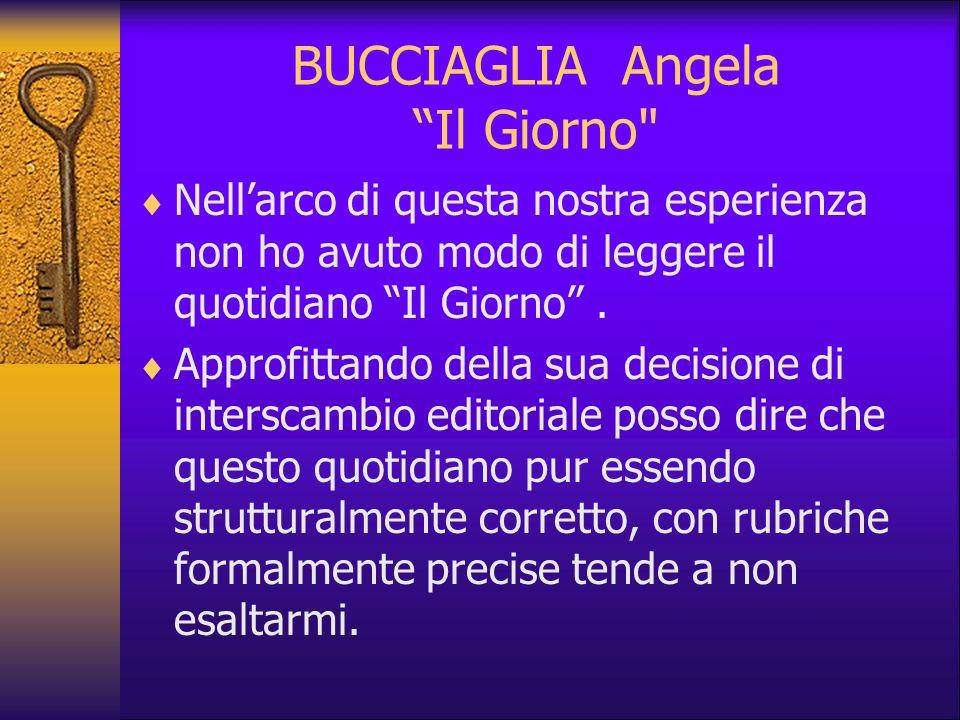 BUCCIAGLIA Angela Il Giorno