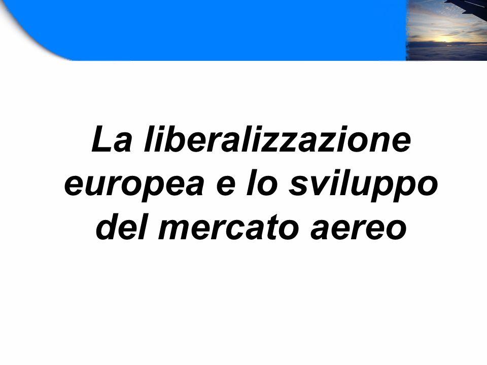 La liberalizzazione europea e lo sviluppo del mercato aereo