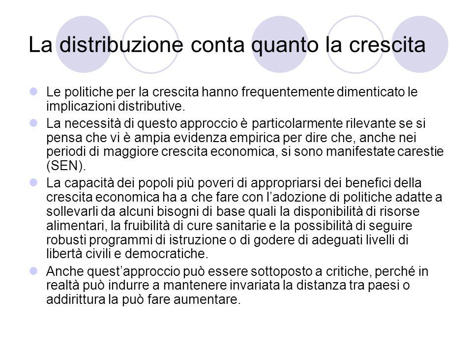 La distribuzione conta quanto la crescita Le politiche per la crescita hanno frequentemente dimenticato le implicazioni distributive. La necessità di