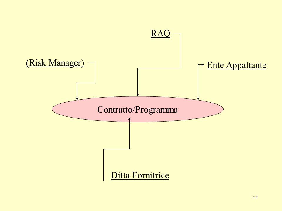 44 Contratto/Programma RAQ (Risk Manager) Ente Appaltante Ditta Fornitrice