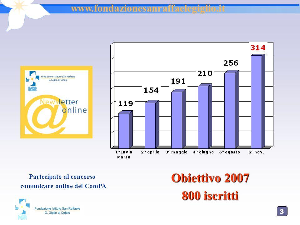 3636 www.hsrgiglio.it La Newsletter Per incrementare la comunicazione interna - esterna Linformazione a casa con un click!!.