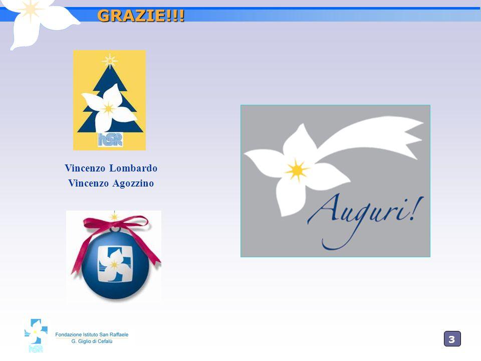3737 GRAZIE!!! Vincenzo Lombardo Vincenzo Agozzino