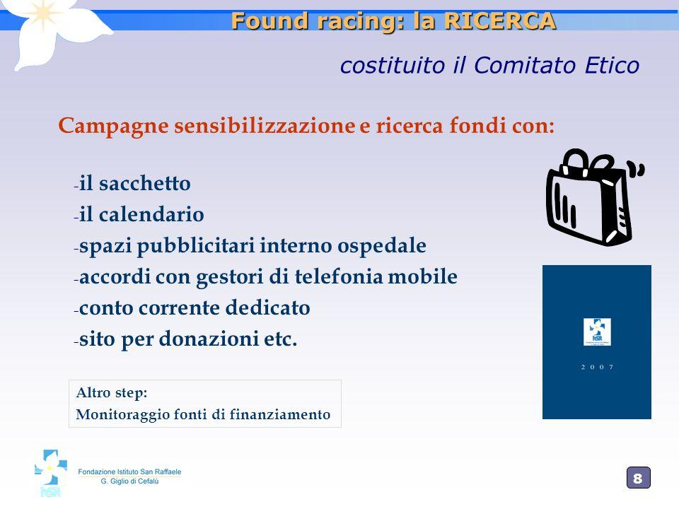 9 Found racing: la RICERCA Il Calendario Ph. A. Lagomaggiore – Grafica:Valentina Console