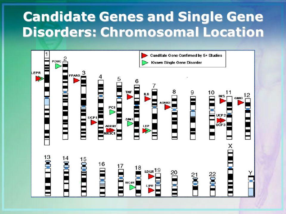 Candidate Genes and Single Gene Disorders: Chromosomal Location