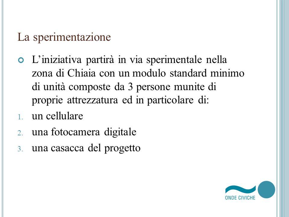 La sperimentazione Liniziativa partirà in via sperimentale nella zona di Chiaia con un modulo standard minimo di unità composte da 3 persone munite di