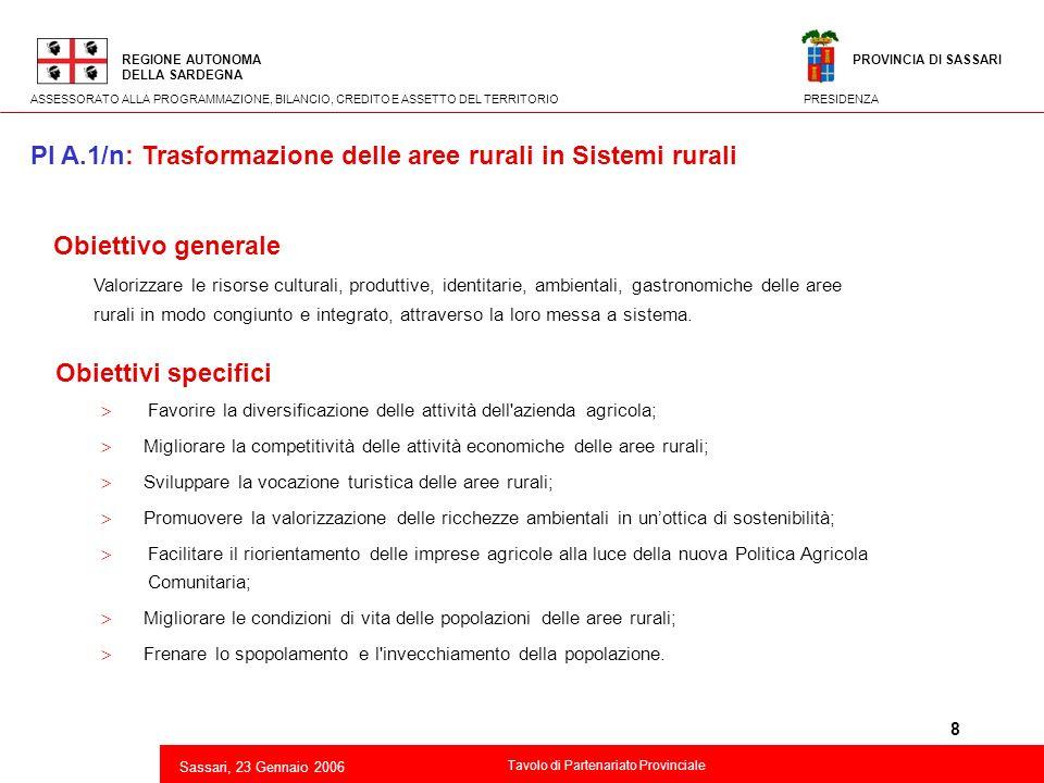 8 2 Obiettivo generale Valorizzare le risorse culturali, produttive, identitarie, ambientali, gastronomiche delle aree rurali in modo congiunto e inte