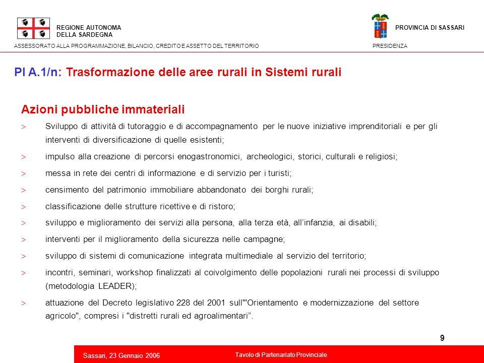9 2 Azioni pubbliche immateriali Sviluppo di attività di tutoraggio e di accompagnamento per le nuove iniziative imprenditoriali e per gli interventi