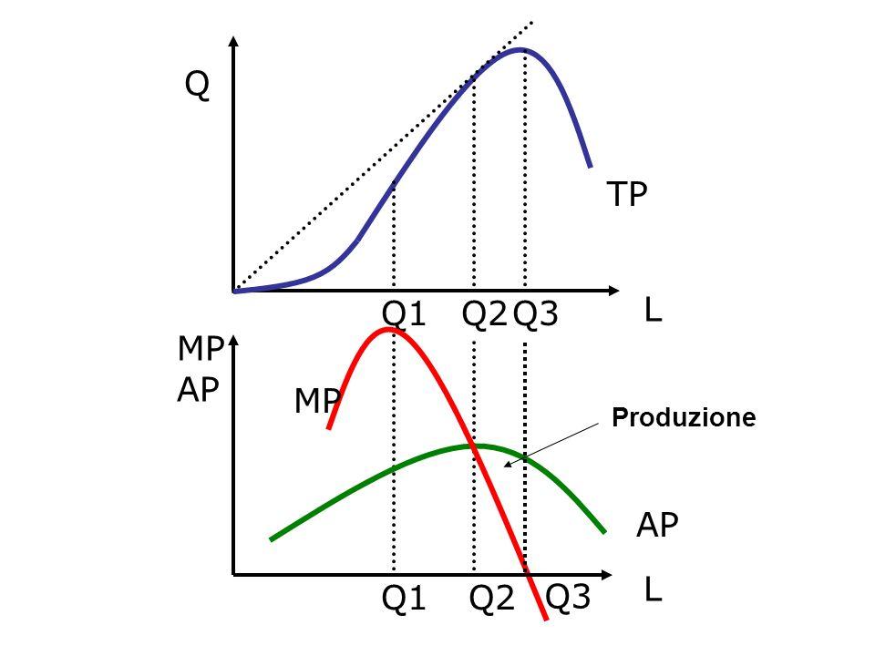 TP Q2 Q1 AP MP Q L AP L Q3 Produzione