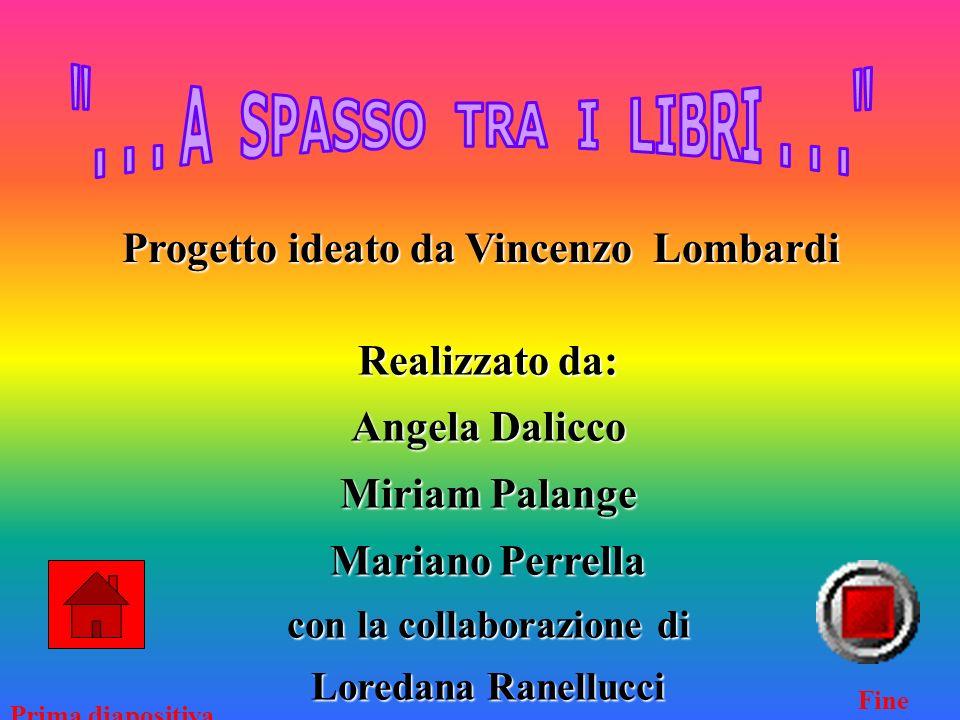 Progetto ideato da Vincenzo Lombardi Realizzato da: Angela Dalicco Miriam Palange Mariano Perrella con la collaborazione di Loredana Ranellucci Prima diapositiva Fine
