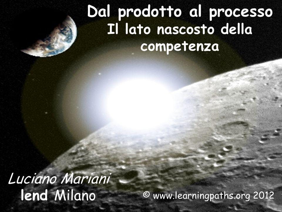 Dal prodotto al processo Il lato nascosto della competenza Luciano Mariani lend Milano © www.learningpaths.org 2012