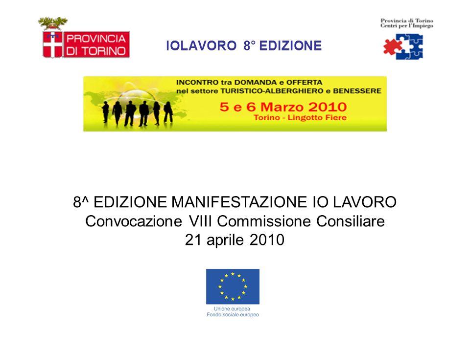 IOLAVORO 8° EDIZIONE 8^ EDIZIONE MANIFESTAZIONE IO LAVORO Convocazione VIII Commissione Consiliare 21 aprile 2010