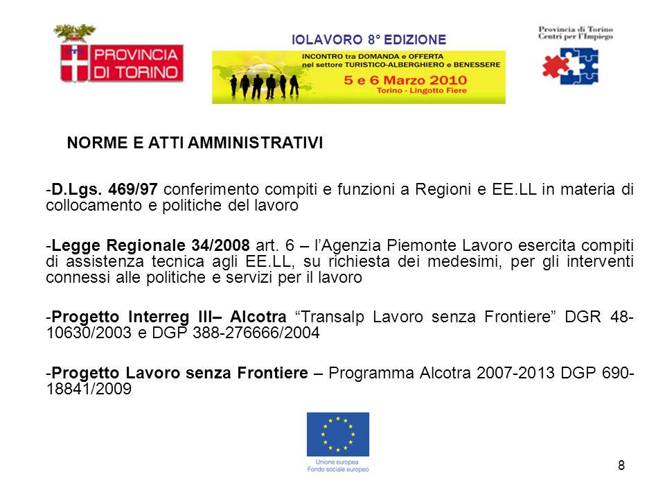 9 IOLAVORO 8° EDIZIONE Con DGP 168-5809/2010 F.S.E.
