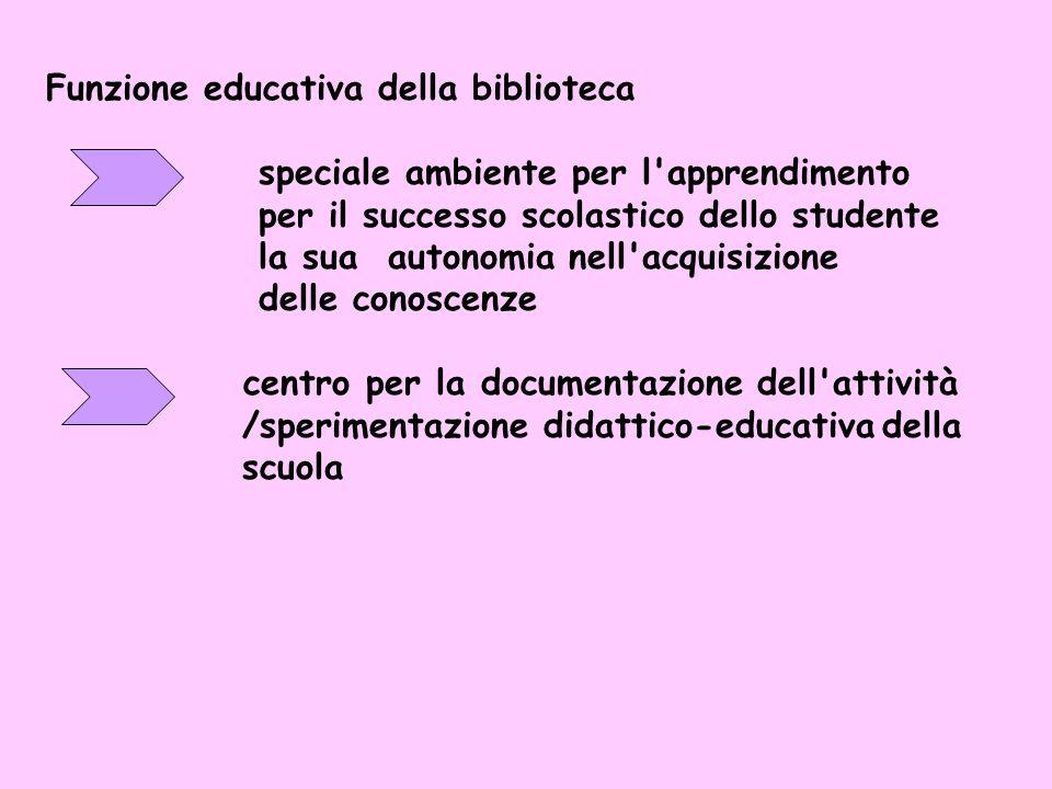 Il ruolo educativo del bibliotecario scolastico /docente-documentalista nellattività formativa Patavina organizzatore delle fonti dell'informazione fa