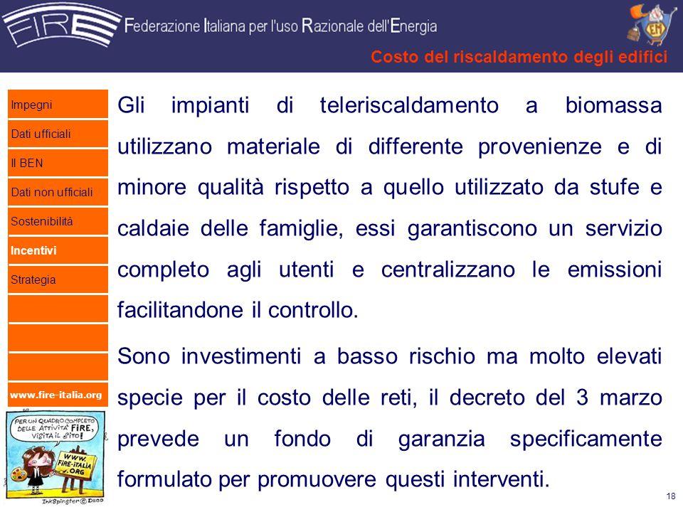 www.fire-italia.org Gli impianti di teleriscaldamento a biomassa utilizzano materiale di differente provenienze e di minore qualità rispetto a quello