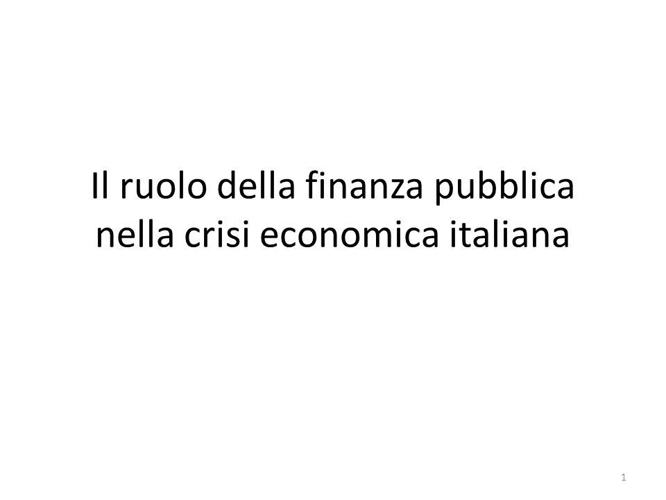 Il ruolo della finanza pubblica nella crisi economica italiana 1