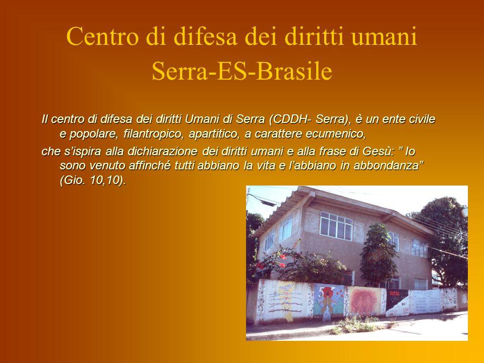 In questa realtà è evidente la necessità di un ampio intervento nellarea sociale. Il CDDH-Serra in collaborazione con la Pastorale del Lavoro, favoris