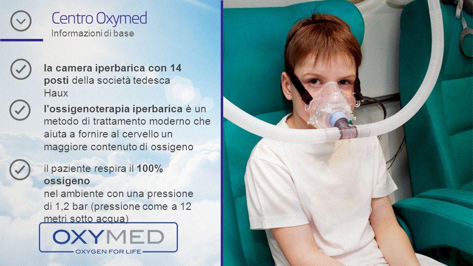 Centro Oxymed Informazioni di base la camera iperbarica con 14 posti della società tedesca Haux l'ossigenoterapia iperbarica è un metodo di trattament