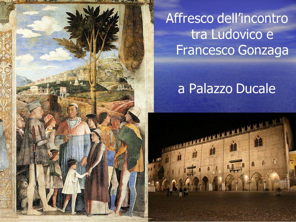 Affresco dell'incontro tra Ludovico e Francesco Gonzaga a Palazzo Ducale