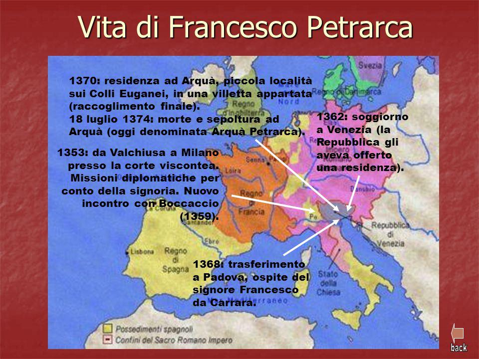 Vita di Francesco Petrarca 1353: da Valchiusa a Milano presso la corte viscontea. Missioni diplomatiche per conto della signoria. Nuovo incontro con B