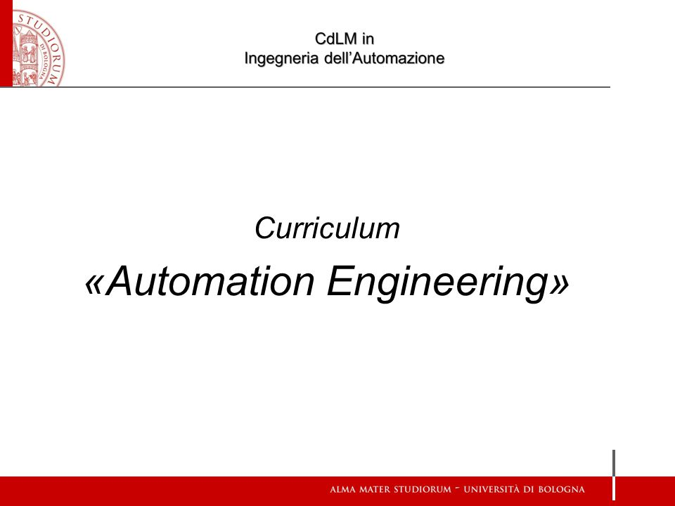 Curriculum «Automation Engineering»