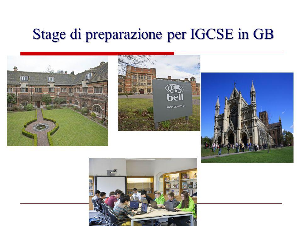 Stage di preparazione per IGCSE in GB
