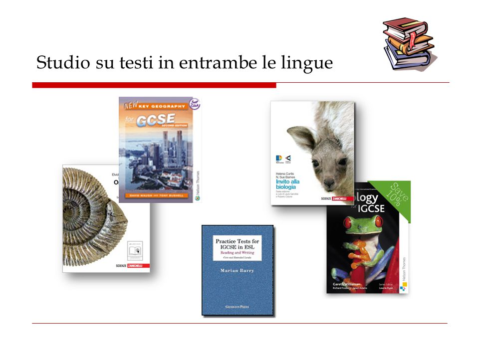 Studio su testi in entrambe le lingue