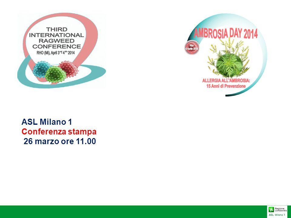 Perché organizzare la 3° Conferenza Internazionale Ambrosia nell'ASL Milano 1.