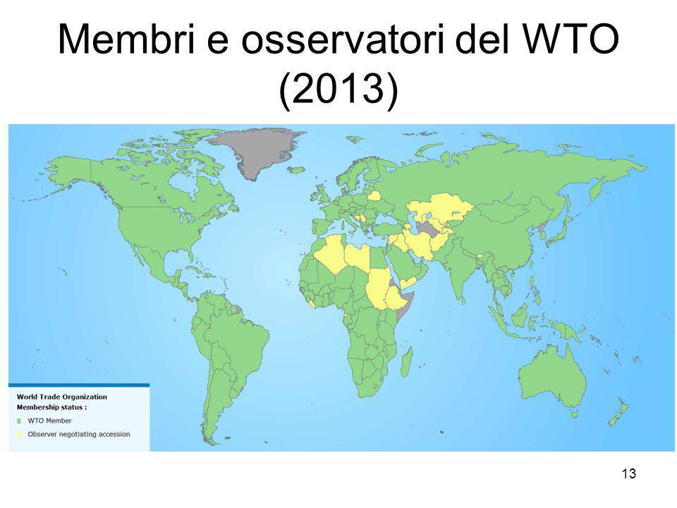 Membri e osservatori del WTO (2013) 13