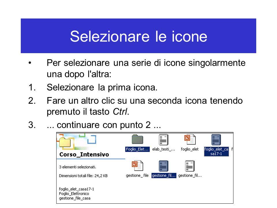 Visualizzare file e cartelle in un drive Icone piccole: