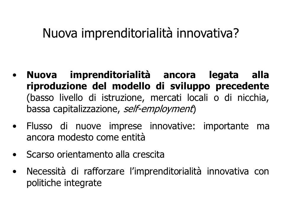Nuova imprenditorialità innovativa.