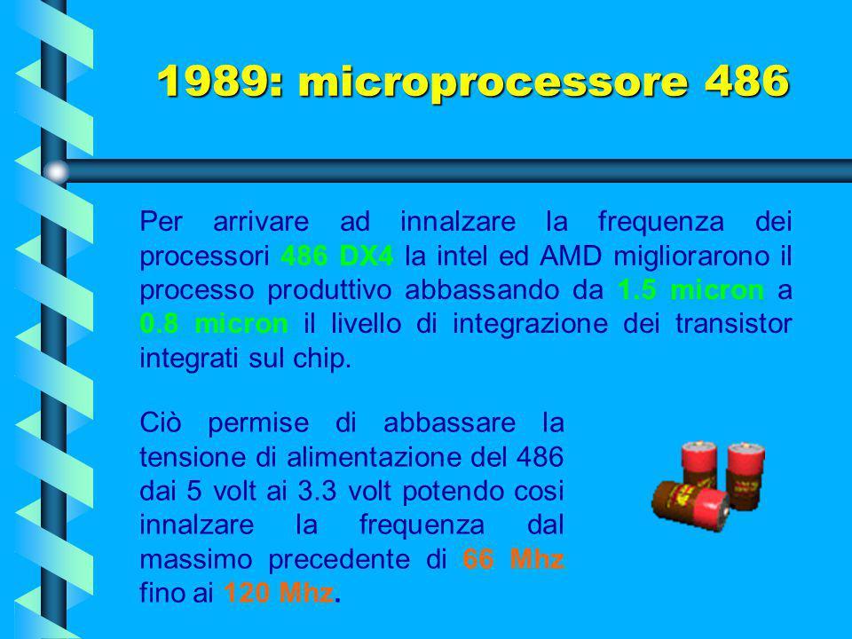 Si deve anche ad AMD l'introduzione di un 486 superveloce che la stessa azienda battezzò 80586, era in effetti un 486 con memoria interna doppia capac