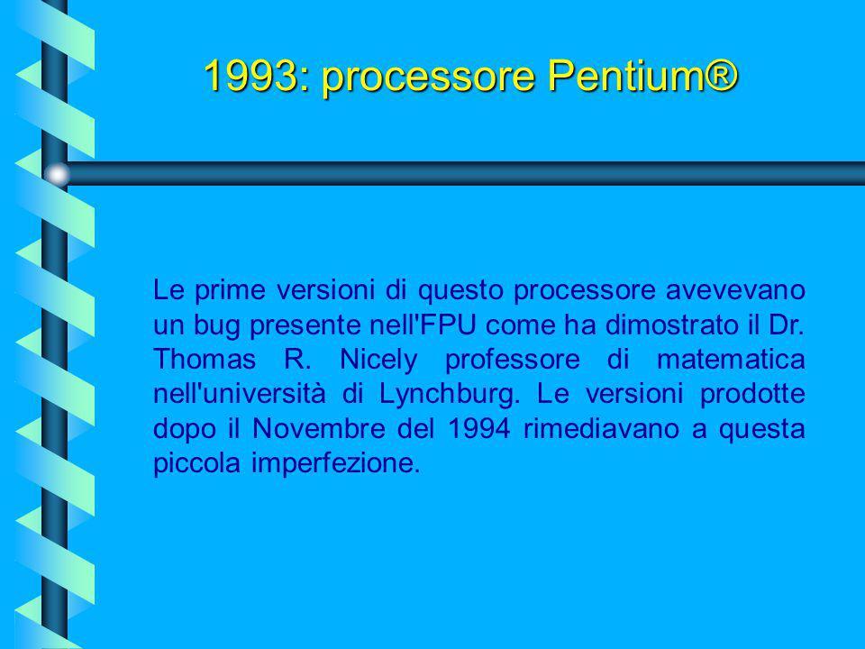 Il Pentium è dotato di due cache aggiuntive da 8 Kb, una per il codice e una per i dati. La doppia cache incorporata rende il processore più efficient