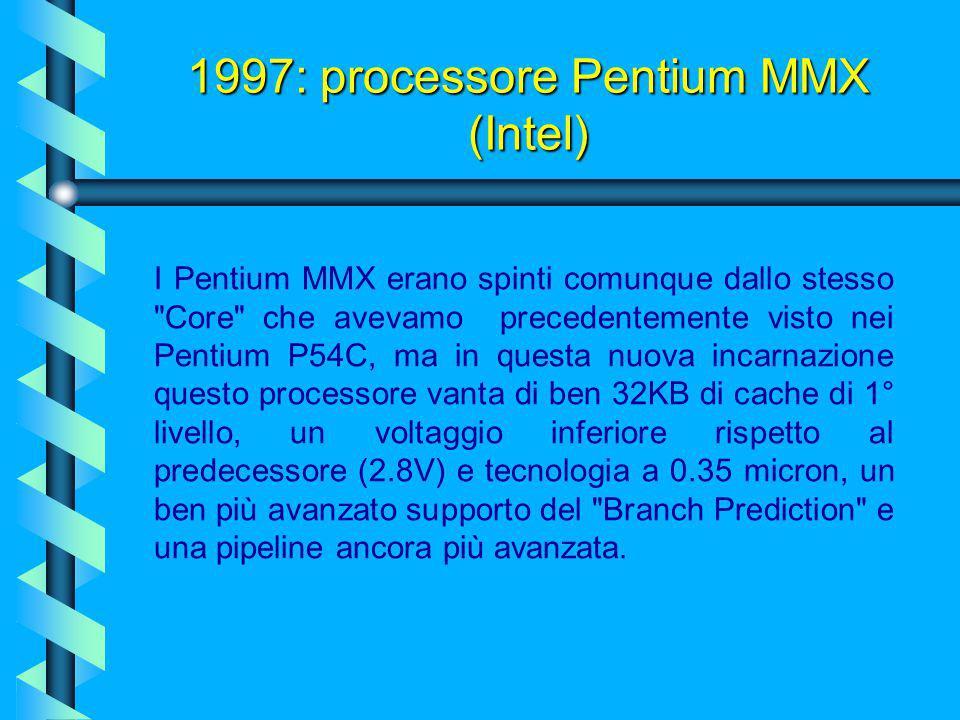 La tecnologia MMX (Matrix Math eXtension o Multi-Media eXtension) è un insieme di istruzioni che usa la matematica matriciale per supportare algoritmi