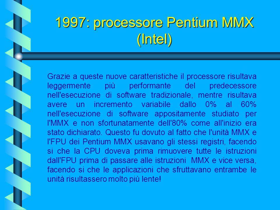 I Pentium MMX erano spinti comunque dallo stesso