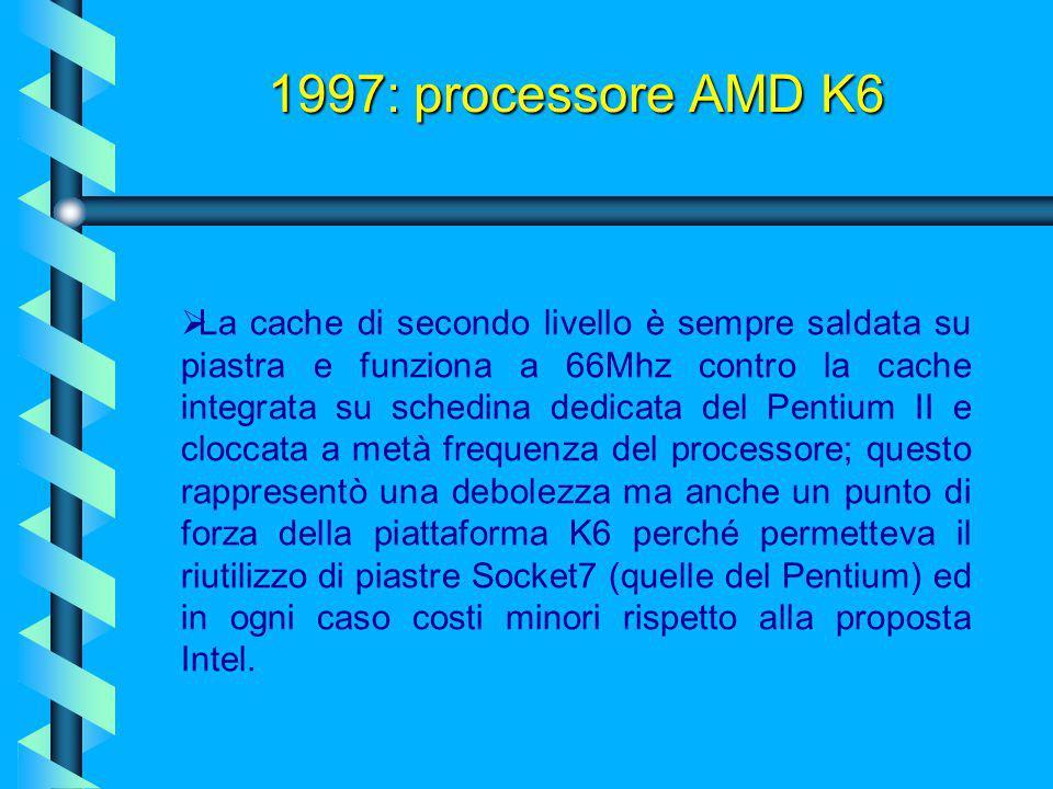Benchè fosse dotato di features avanzate, il K6 aveva una pecca:  Era costruito su pipeline a bassa latenza a 6 stadi, ottima per ridurre gli stalli
