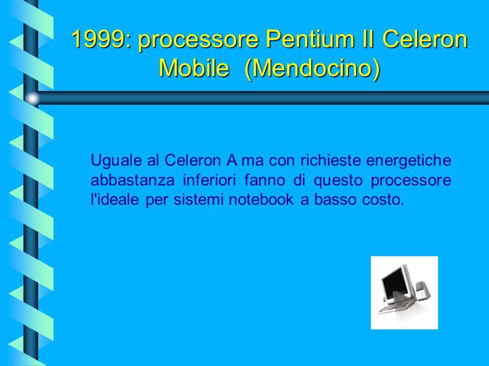 1998: processore Pentium II Celeron A (Mendocino) L'Intel notò il fenomeno e per contrastarlo fece si che il moltiplicatore della CPU restasse bloccat