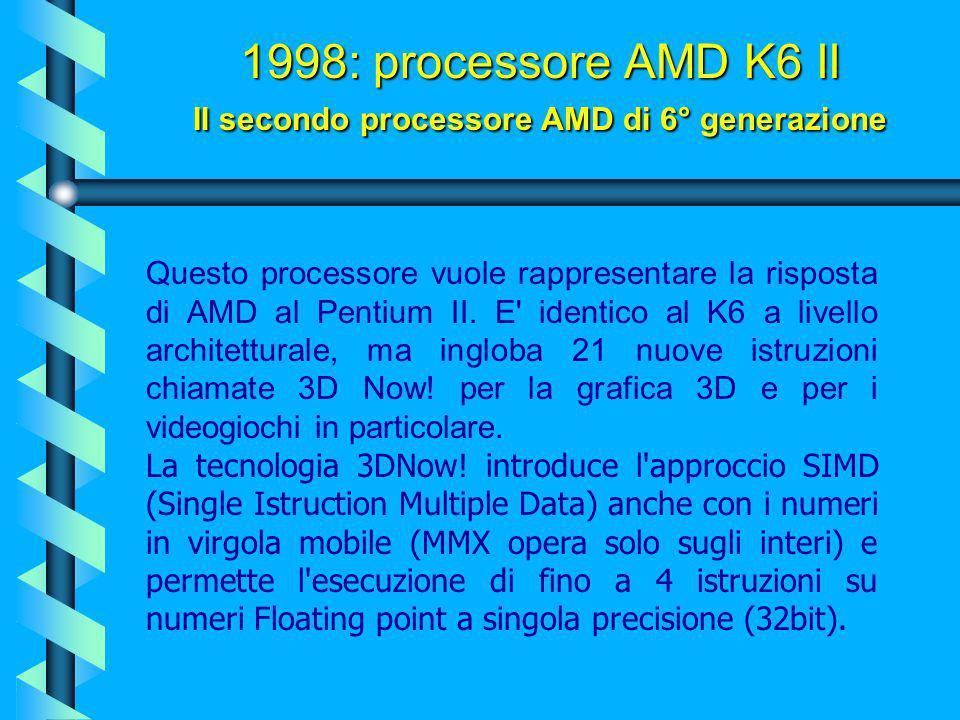 1999: processore Pentium II Celeron Mobile (Mendocino) Uguale al Celeron A ma con richieste energetiche abbastanza inferiori fanno di questo processor