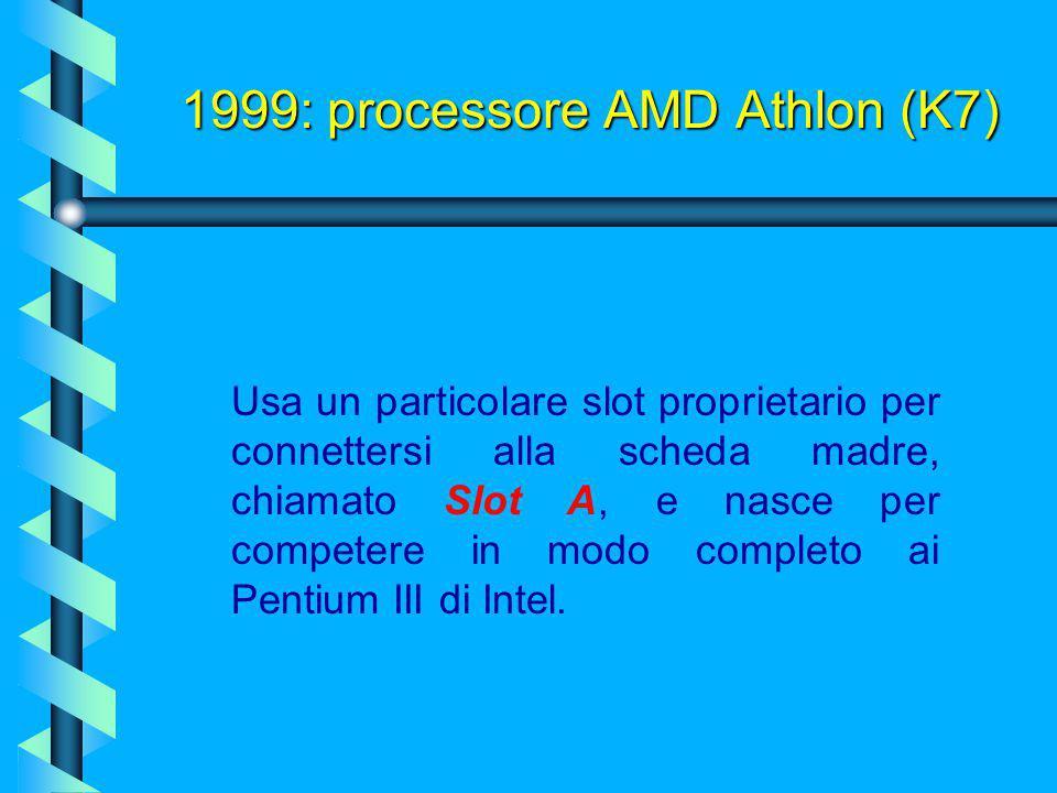 Terza generazione dei processori AMD, realizzata inizialmente con un sistema di produzione a 0,25 micron (per funzionare ad oltre 500 Mhz), passerà po