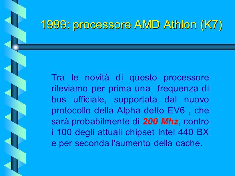 Usa un particolare slot proprietario per connettersi alla scheda madre, chiamato Slot A, e nasce per competere in modo completo ai Pentium III di Inte