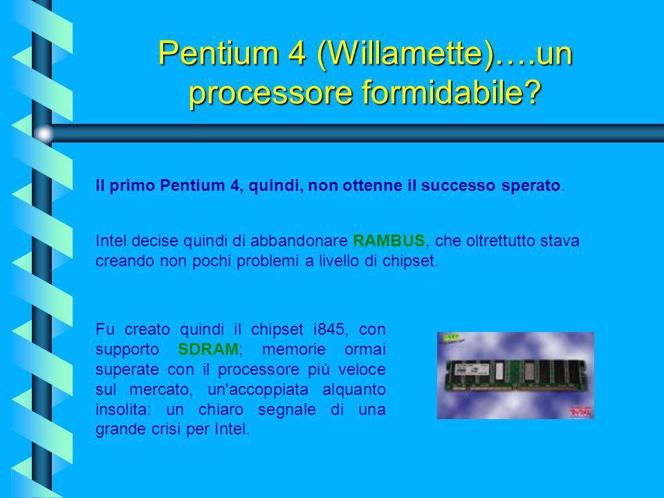 Pentium 4 (Willamette)….un processore formidabile? Non andò tutto esattamente come preventivato da Intel. Infatti questo processore, era legato inevit