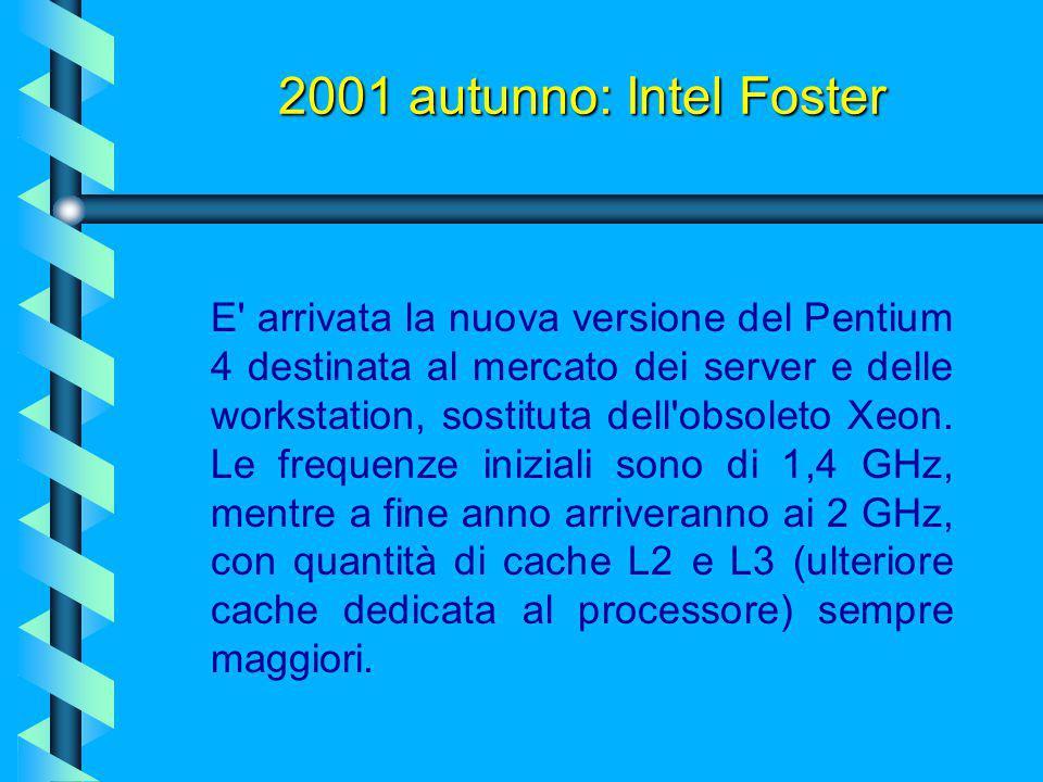 Luglio 2001:processore Pentium III Tualatin Il Pentium III Tualatin, introdotto il 30 luglio 2001, è il primo dei processori Intel a impiegare la tecn