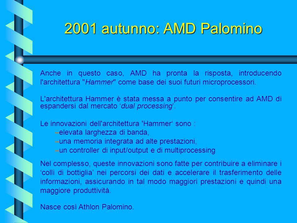 2001 autunno: Intel Foster E' arrivata la nuova versione del Pentium 4 destinata al mercato dei server e delle workstation, sostituta dell'obsoleto Xe