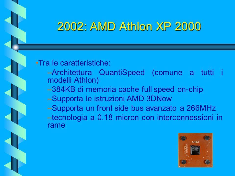 2002: Pentium IV Northwood Il Northwood, non finì ancora di stupire, infatti, dopo poco tempo, uscì la versione con Bus Quad Pumped a 800 MHz, Northwo