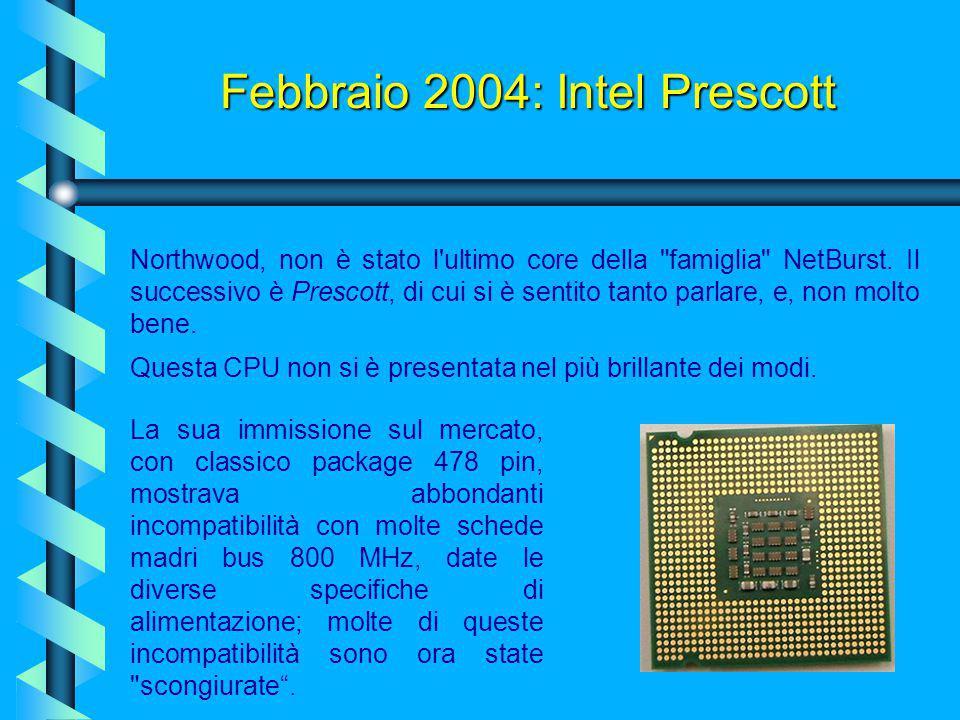 2003 - 2004: AMD Athlon 64 Un'altra importante tecnologia implementata nell'Athlon 64 è chiamata Cool 'n' Quiet, analoga allo SpeedStep di Intel. Graz