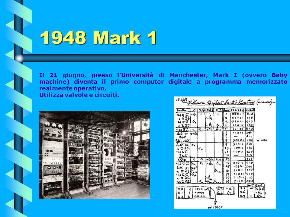 1948 IBM 604 Il calcolatore elettronico 604, introdotto nel 1948 e di cui si venderanno 5.600 unità nei successivi 10 anni, era progettato principalme