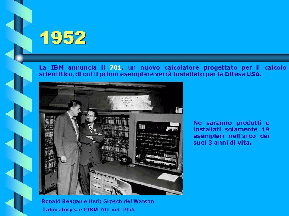 1951 Memoria a nuclei magnetici L'americano Jay Wright Forrester, (capo del progetto Whirlwind) l'11 maggio, registra un brevetto per la memoria a nuc