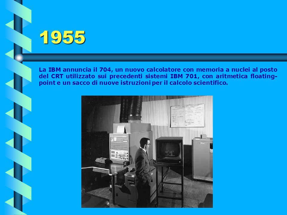 IBM 650 Nel 1956 il prezzo per il noleggio era di 3.200$/mese (il costo di una grossa Cadillac). La funzionalità del sistema era dell'80% di tempo (no