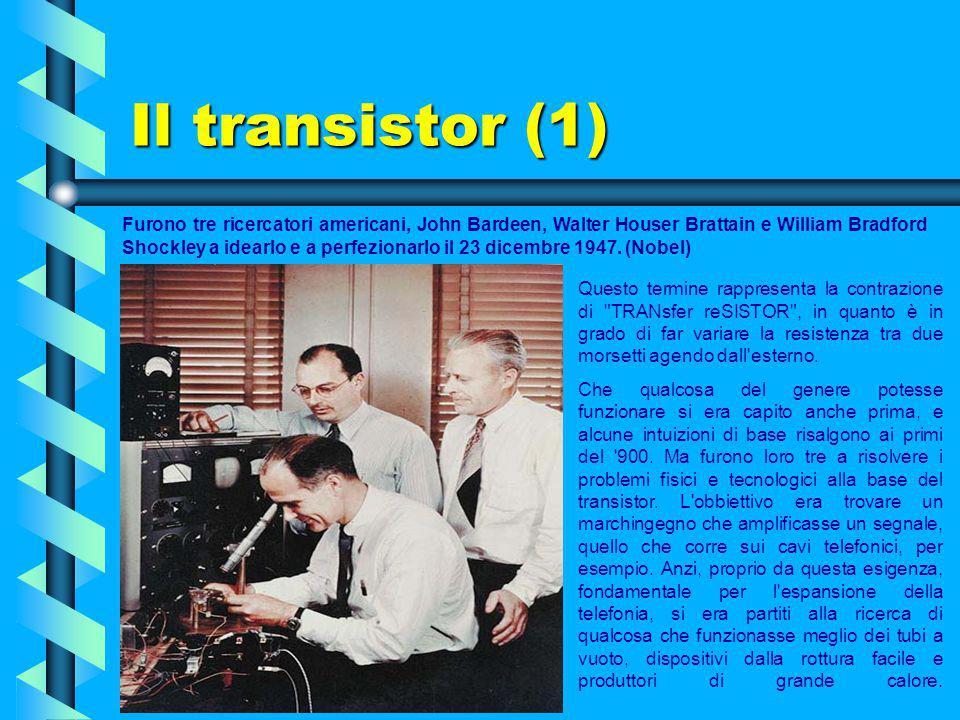 SECONDA GENERAZIONE Nel 1956 i primi computer a transistor sono annunciati. Si tratta del TRIDAC e di tre modelli sperimentali del MIT siglati TX-O. V