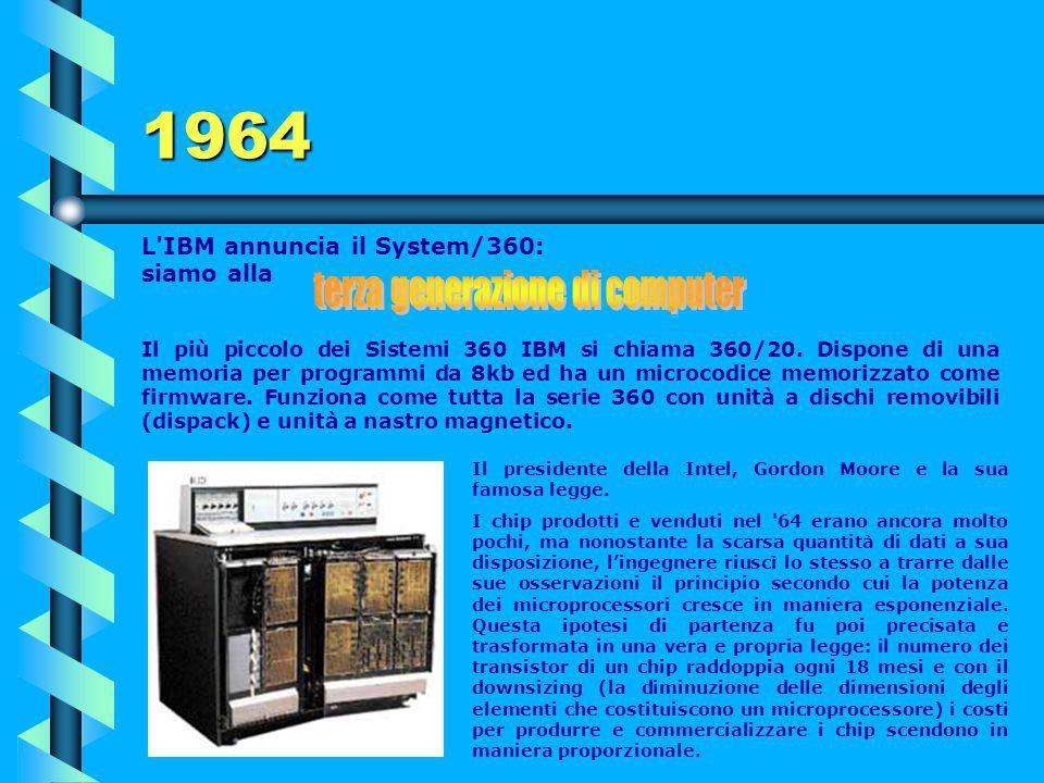 1961 Il computer IBM 7030 (detto Stretch) viene completato e gira 30 volte più velocemente del 704. Console