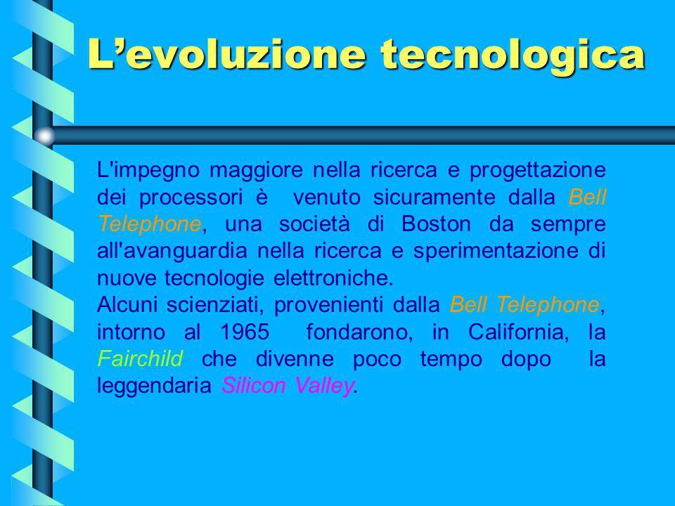 L'evoluzione tecnologica Nella storia della tecnologia vi sono svolte in cui accade qualcosa di nuovo e fondamentale, nasce qualcosa di irrefrenabile